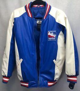 Vintage Indy VTG Car Racing League Series Faux Leather Letterman's Jacket  S/M