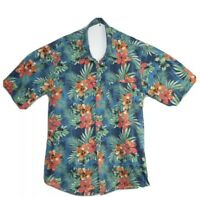 Jack & Jones Vintage Clth Men's Hawaiian Floral Short Sleeve Shirt Size XL