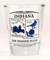 INDIANA STATE SCENERY BLUE NEW SHOT GLASS SHOTGLASS