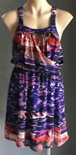 Pre-owned SHEIKE Multi Colour Ombre Print Keyhole Bodice Dress Size 8