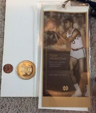 2015 NOTRE DAME BASKETBALL TOM HAWKINS RING OF HONOR COIN MONOGRAM CLUB PIN