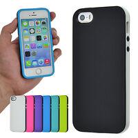 TPU Case iPhone 5 5S SE SolidFit PureColor Silikon Schale Bumper Cover Hülle