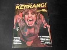 Vintage Sept 1982 KERRANG KERRANG! Magazine Ozzy Osbourne Cover and Centerfold