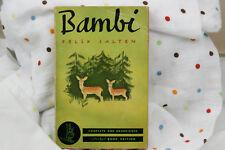 Bambi by Felix Salten 1940 Pocket Books #10 7th printing PB Green/Red Ed.