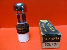 SYLVANIA 6SL7GT USA TWIN TRIODE NOS/NIB TESTED STRONG/BAL. AUDIO GUITAR PREAMP