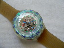 1992  Scuba 200 Swatch Watch Blue Ice SDK107