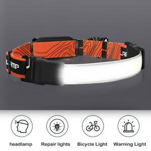 Head Torch LED COB Headlamp Waterproof Strip Work Light Rechargeable Headlight
