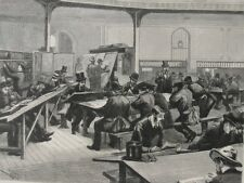 1862- 10 Antique Engravings - MELBOURNE, AUSTRALIA - Reading Room, Labor Strike