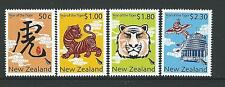 NEW ZEALAND 2010 YEAR OF THE TIGER SET OF 4  UNMOUNTED MINT, MNH