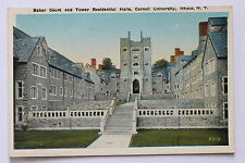 Old postcard BAKER COURT & TOWER RESIDENTIAL HALLS, CORNELL UNIVERSITY, ITHACA
