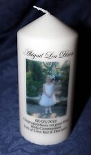 Cellini Candles Personalised Photo Gift First Holy Communion keepsake memento