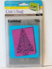 Cuttlebug LACE TREE Embossing Folder BigShot christmas swirl tree NEW