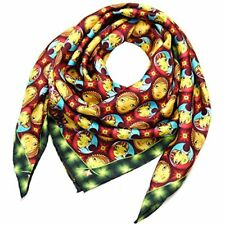 Louis Vuitton Scarf Silk 100% Carre Mosaic Os Gemeos Ladies NEW #0026