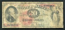 "FR. 127 1869 $20 TWENTY DOLLARS ""RAINBOW"" LEGAL TENDER UNITED STATES NOTE"