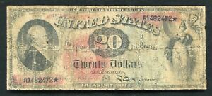 "FR. 127 1869 $20 TWENTY DOLLARS ""RAINBOW"" LEGAL TENDER UNITED STATES NOTE"