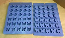 (2) Scentsy Silicone Molds for Candle Wax Samples Logo and Butterfly MINT