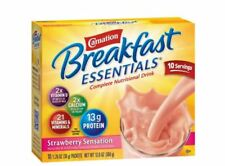 Carnation Breakfast Essentials Complete Nutrition Drink Classic Strawberry Sensa
