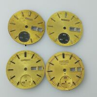 VINTAGE SEIKO AUTOMATIC 6139 chronograph WATCH 4 DIAL LOT FOR PARTS