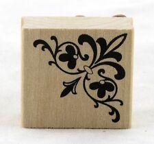 Corner Flourish Wood Mounted Rubber Stamp Martha Stewart NEW accent art fancy