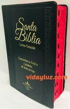 Biblia Letra Grande Reina Valera 1960 Manual Vinyl Negro Index Concordancia
