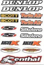 4MX Sticker Decal Sheet Dunlop Scott Twin Air S Silkolene fits Quad Bike