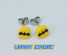 LEGO Custom Stud Earrings - Batman Bat symbol small - DC minifig scale FREE POST
