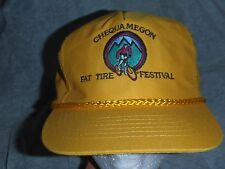 VTG Chequamegon Fat Tire Festival Hat Bicycle Racing 1980's RARE Beer