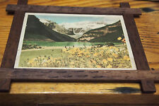 """Vintage Lake Louise Print with wood frame 7 ½"""" x 6 ¼"""" by Harmon"""
