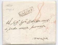 Prefilatelica prephilatelic 1827 da Cadore a Venezia
