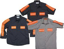 Used Work Shirts High Visibility Hi-Vis Reflective Safety Uniform Towing
