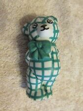 The Franklin Mint Tfm Porcelain Flowered Standing Teddy Bear Figurine