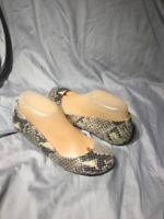 Michael Kors 6.5 M Leather Snake Print Ballet Flats Women's Shoe