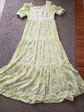 VTG  70s Floral Lace trim Boho Festival Maxi Dress large