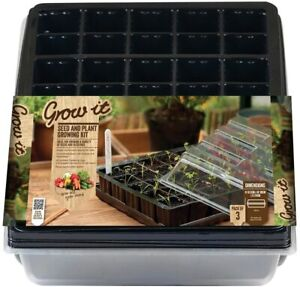 Seed and Plant Growing Kit Black 10.5 x 38 x 24cm