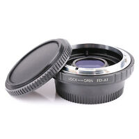 Adapter Ring f Canon FD/FC Lens to Nikon AI F Mount Optical Glass Focus Infinity