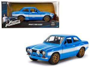 1/24 Jada  Fast & Furious Brian's Ford Escort & White Stripes Diecast Blue 99572