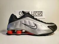 Nike Nike Shox R4 Sneakers BV1111-008 Black/Orange/Metallic Silver Sizes 10-11.5