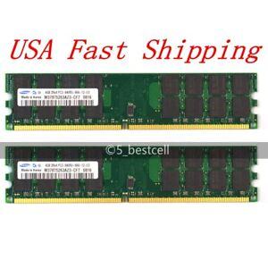 US Samsung 8GB 2X 4GB DDR2-800 MHz PC2-6400 240PIN Desktop Memory for AMD CPU