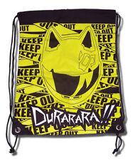 Durarara! Celty Keep Out Drawstring Backpack *New*