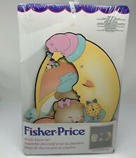 Fisher Price Baby Room Decor Set Vintage 1995 Paperboard Wall Hangings NOS