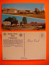 Vintage POSTCARD ~*~*~ QUALITY COURTS Motel & Restaurant ~*~*~ Marianna, FLORIDA