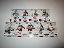 2013 NRL ELITE MANLY WARRINGAH SEA EAGLES COMMON TEAM SET 9 CARDS LYON STEWART