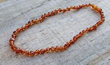 $16.99 COGNAC CHILD NECKLACE 32cm 100% GENUINE BALTIC AMBER JEWELLERY