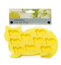 Epicurean Yellow Cat Silicone Ice Cube Tray Maker Mould Chocolate Novelty
