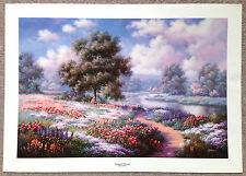 "Judy Gibson Listed Texas Artist S/N Print ""Tranquil Dreams"""