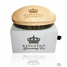 ❤ Kingston Grooming- Professional 100% Natural Wooden Dual Boar Hair Brush Soft