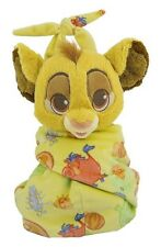 Disney Parks Baby Simba in a Blanket Pouch Plush New with Tags