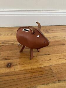 Shinola Leather Piggy Bank