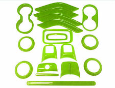 For Jeep Wrangler 4 Door 11-17 Green Interior Accessories Decoration Cover 18PC