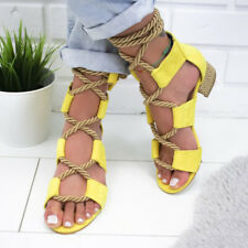 Lace Up Gladiator Sandal Summer Women Casual Beach Shoes Female Sandal Low Heel